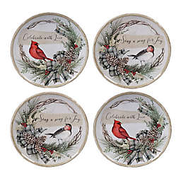 Certified International Holly and Ivy Dessert Plates (Set of 4)