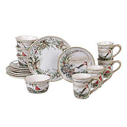 Certified International Holly and Ivy 16-Piece Dinnerware Set