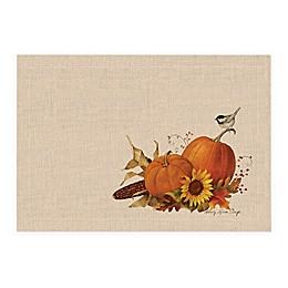 Harvest Pumpkin Placemats in Natural (Set of 4)