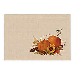 Harvest Pumpkin Placemats in Natural (Set of 4)