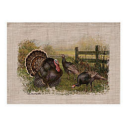 Wild Turkey Placemats in Natural (Set of 4)