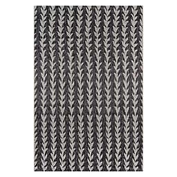 Novogratz by Momeni® Amalfi 9'3 x 12'6 Indoor/Outdoor Area Rug in Charcoal