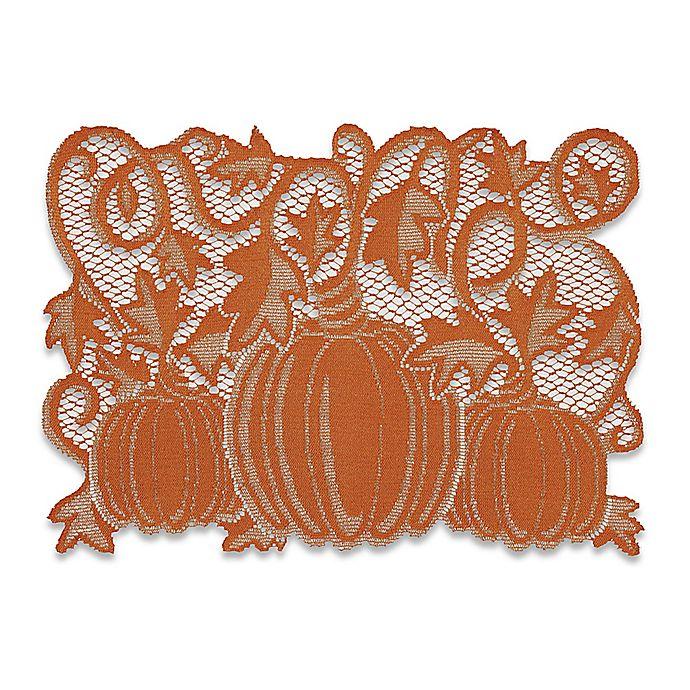Alternate image 1 for Pumpkin Vine Placemats in Orange (Set of 4)