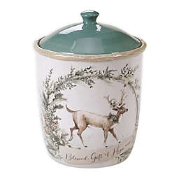 Certified International Holly & Ivy Biscotti Jar with Lid