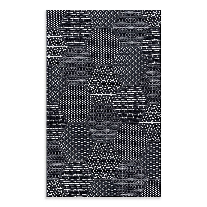 Alternate image 1 for Couristan® Afuera Anode Indoor/Outdoor Area Rug in Black/Grey