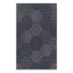 Couristan® Afuera Anode Indoor/Outdoor Area Rug in Black/Grey
