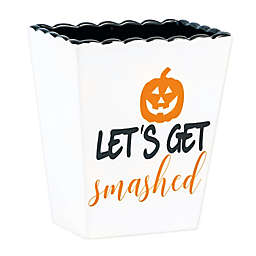 """Boston International """"Let's Get Smashed"""" Halloween Container in White/Black"""