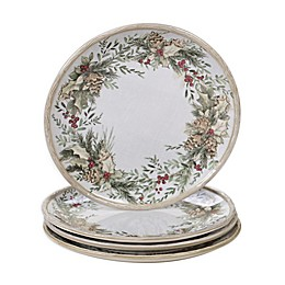 Certified International Holly and Ivy Dinner Plates (Set of 4)