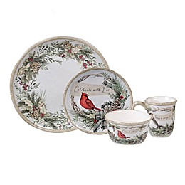 Certified International Holly & Ivy Dinnerware and Serveware Collection