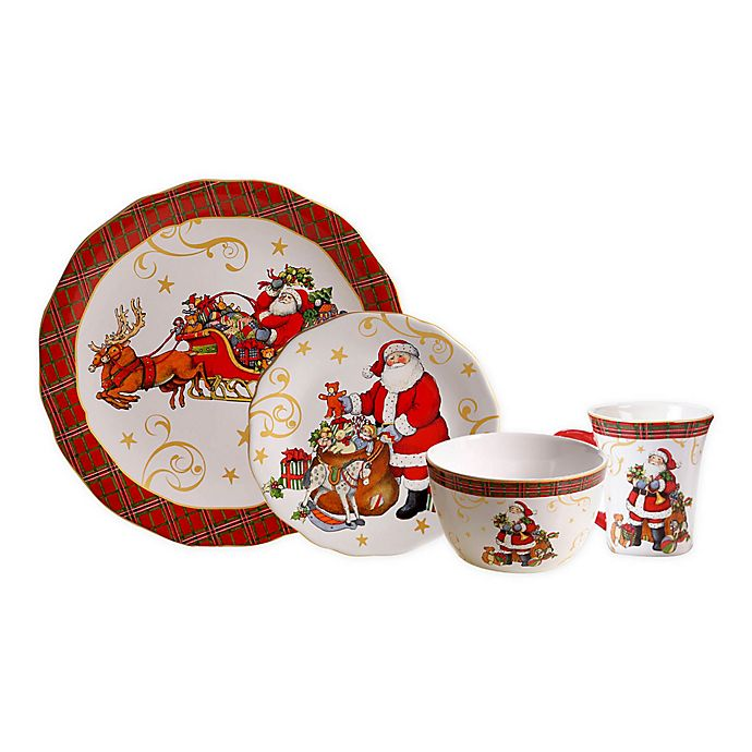 Alternate image 1 for Certified International Vintage Santa Dinnerware Collection