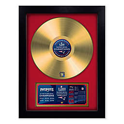 NFL New England Patriots 2019 Championship Vinyl Gold Record Wall Art
