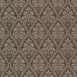 Echo Design™ Damask Wallpaper Sample in Brown
