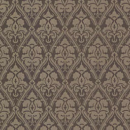 Echo Design™ Damask Wallpaper Sample in Brown