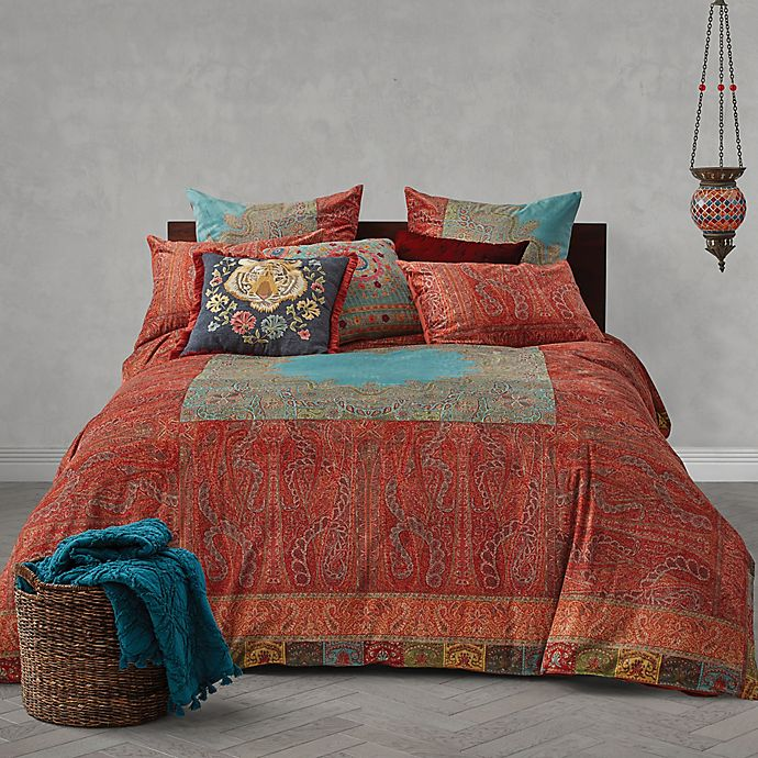 Alternate image 1 for Global Caravan Vintage Paisley Reversible Duvet Cover