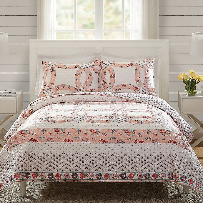 Alternate image 1 for Vera Bradley® Tossed Posies 3-Piece Reversible Quilt Set