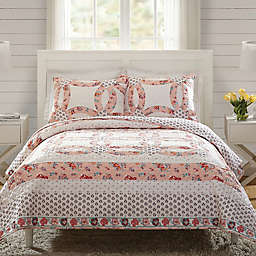 Vera Bradley® Tossed Posies 3-Piece Reversible Quilt Set in Pink