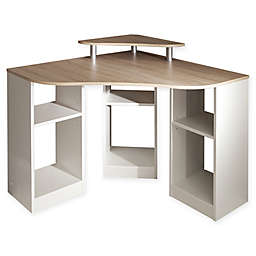 Temahome® Corner Desk in Natural Oak/White