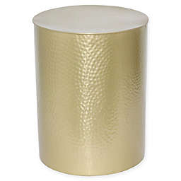 O&O by Olivia & Oliver™ Hammered Drum Side Table in Gold
