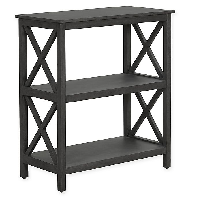 Alternate image 1 for Truly Home Thomspon 2-Tier Shelf in Dark Grey