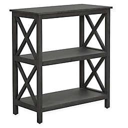 Truly Home Thomspon 2-Tier Shelf in Dark Grey
