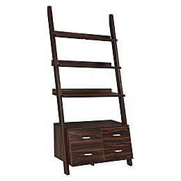 Clyde Etagere with Four Drawers in Dark Walnut