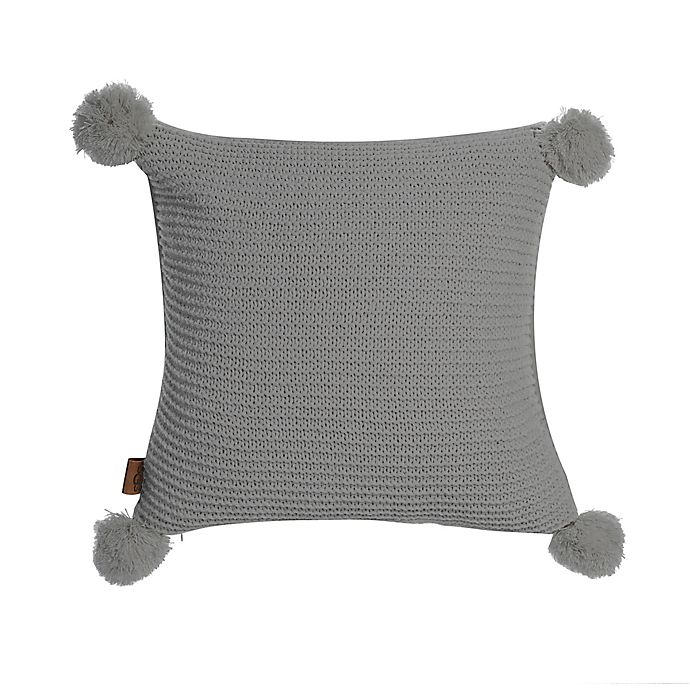 Alternate image 1 for UGG® Cameron Chenille Knit Square Throw Pillow in Seal