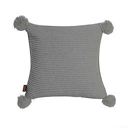 UGG® Cameron Chenille Knit Square Throw Pillow in Seal