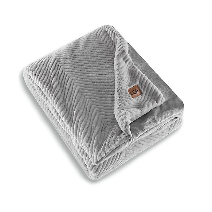 Alternate image 1 for UGG® Walker Faux Fur Reversible Throw Blanket in Seal