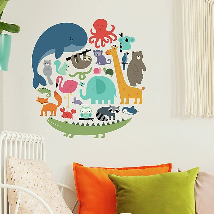 Alternate image 1 for RoomMates® We Are One Animal Peel & Stick Wall Decals