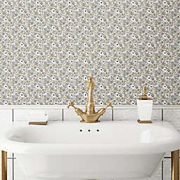 RoomMates® Floral Ditzy Peel & Stick Wallpaper in Grey