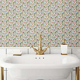 RoomMates® Floral Ditzy Peel & Stick Wallpaper in Pink