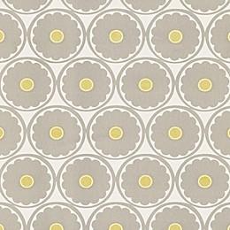 Echo Design™ Retro Floral Wallpaper Sample in Grey