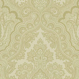 Echo Design™ Paisley Wallpaper Sample in Beige