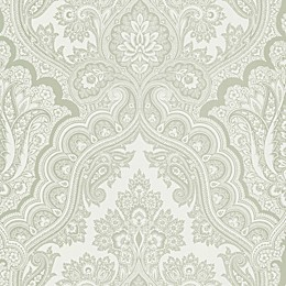Echo Design™ Paisley Wallpaper Sample in Grey