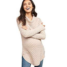 Motherhood Maternity® Cozy Cable Cowl Neck Maternity Sweater