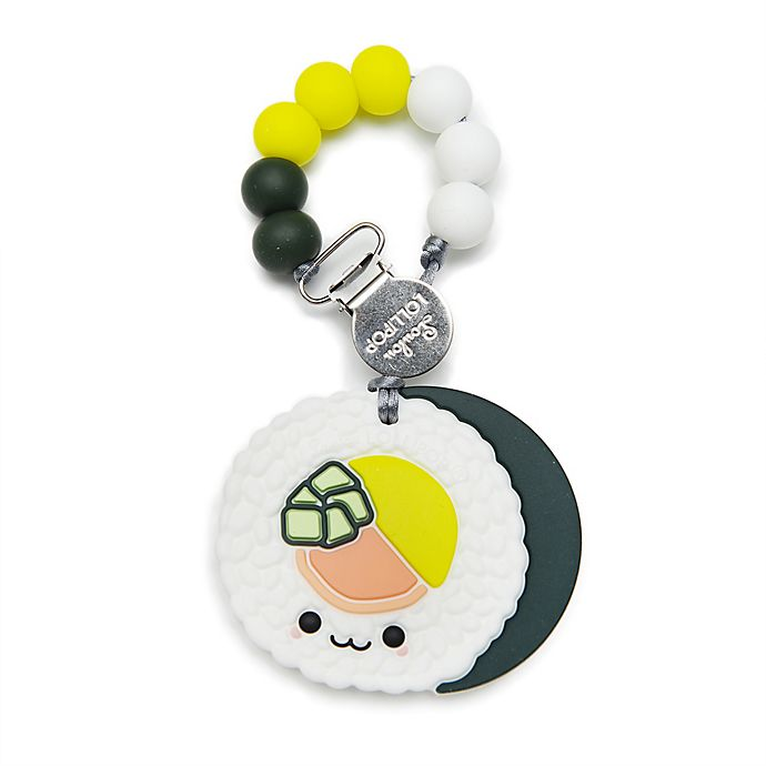 Alternate image 1 for Loulou Lollipop™ Sushi Roll Teether with Clip