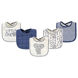 Touched by Nature® 5-Pack Elegant Organic Cotton Bibs in Cream