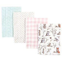 Hudson Baby® 4-Pack Enchanted Forest Burp Cloth Set in Cream