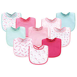 Luvable Friends® 10-Pack Elephant Drooler Bibs in Pink