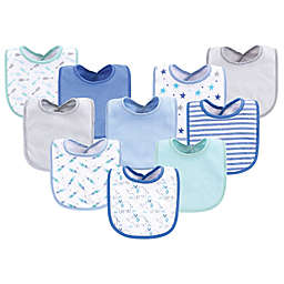 Luvable Friends® 10-Pack Elephant Drooler Bibs in Blue
