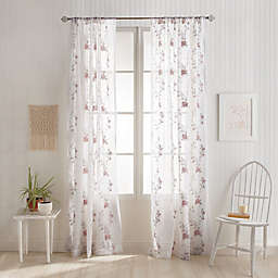 Chrysanthemum Rod Pocket Window Curtain Panel