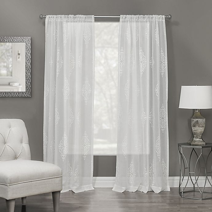 Alternate image 1 for Winston Rod Pocket Sheer Window Curtain Panel