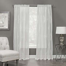 Winston 84-Inch Rod Pocket Sheer Window Curtain Panel in White