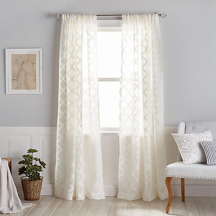 Alternate image 1 for Windsor Sheer Rod Pocket Window Curtain Panel