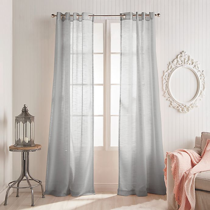 Alternate image 1 for Peri Home Kelly 84-Inch Grommet Window Curtain Panel in Grey