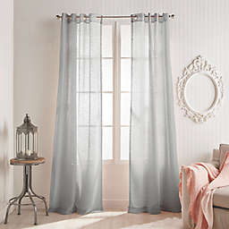 Peri Home Kelly 84-Inch Grommet Window Curtain Panel in Grey