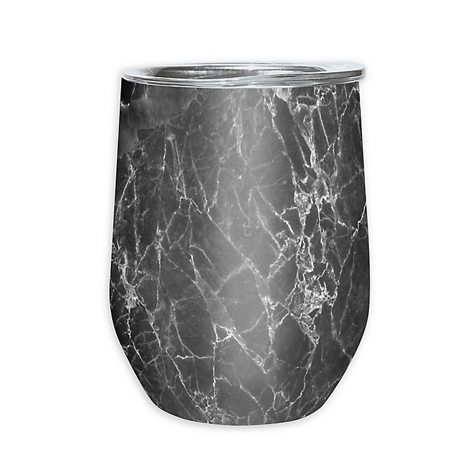 Alternate image 1 for Oggi™ Cheers™ Stainless Steel Wine Tumbler in Grey Marble