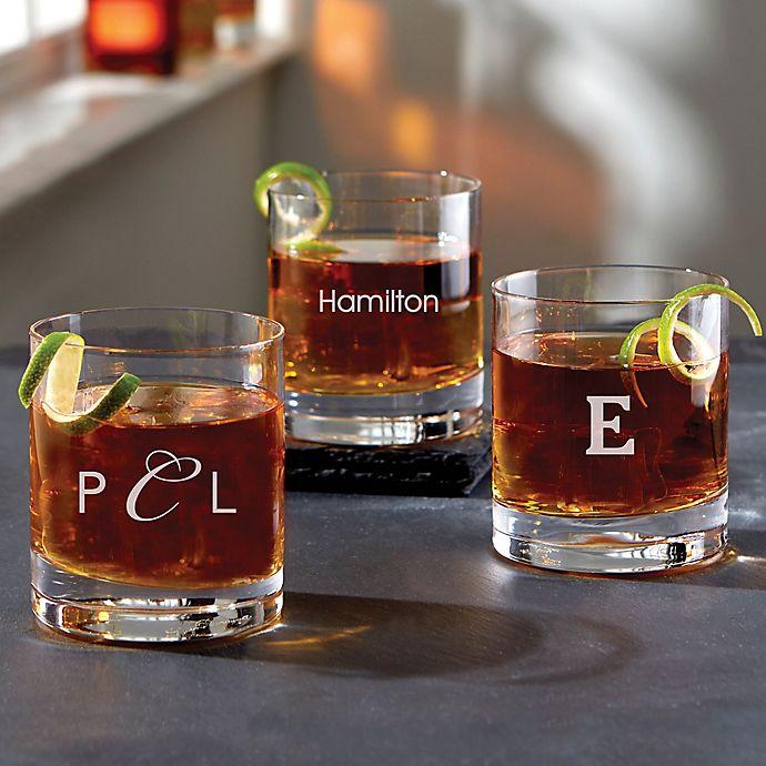Alternate image 1 for Luigi Bormioli Classico SON.hyx® Personalized Double Old Fashioned Whiskey Glass