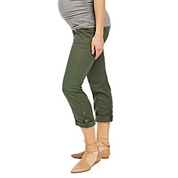 Motherhood Maternity® Secret Fit Belly Roll Hem Convertible Maternity Pant