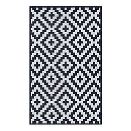 Couristan® Afuera Diatomic Indoor/Outdoor Area Rug in Black/White